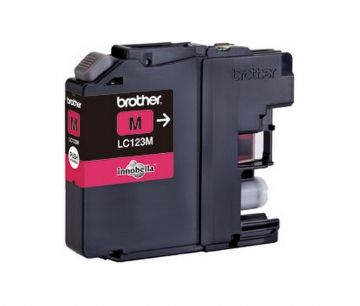 Brother LC123M Magenta Refurbished Ink Cartridge (LC-123M Inkjet Printer Cartridge)